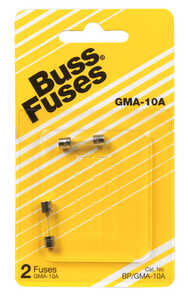 Bussmann  10 amps 250 volts Glass  Fast Acting Glass Fuse  2 pk