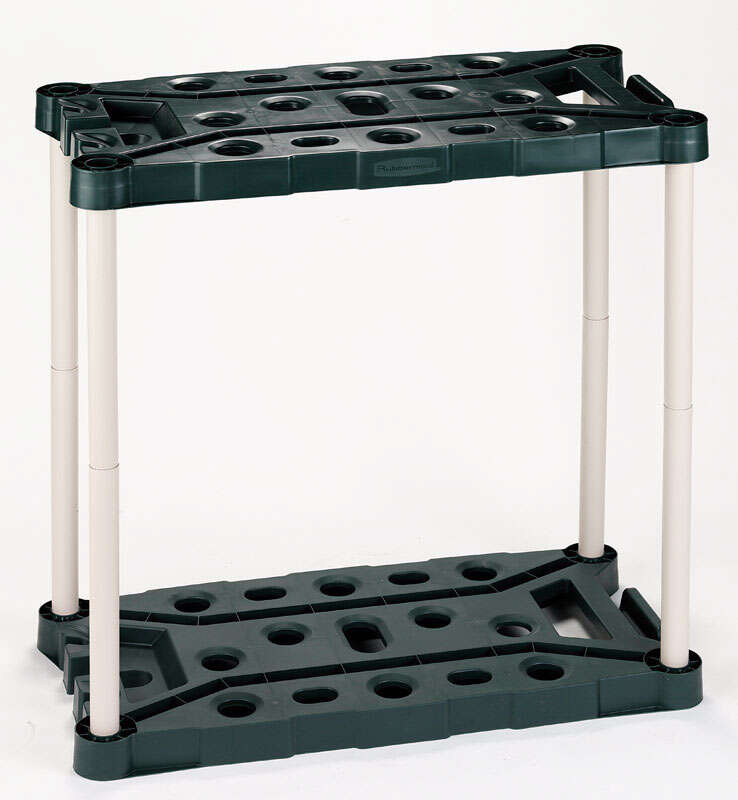 Rubbermaid  37 in. H x 18 in. D x 36 in. W Black/Natural  Plastic  Tool Tower