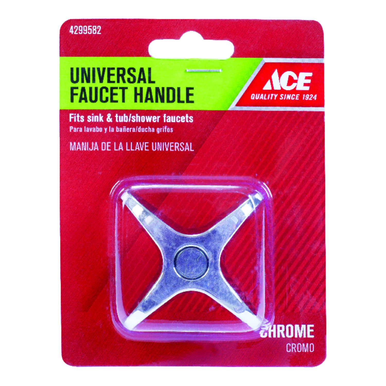 Ace Cross Arm Chrome Diverter Universal Faucet Handle - Ace Hardware