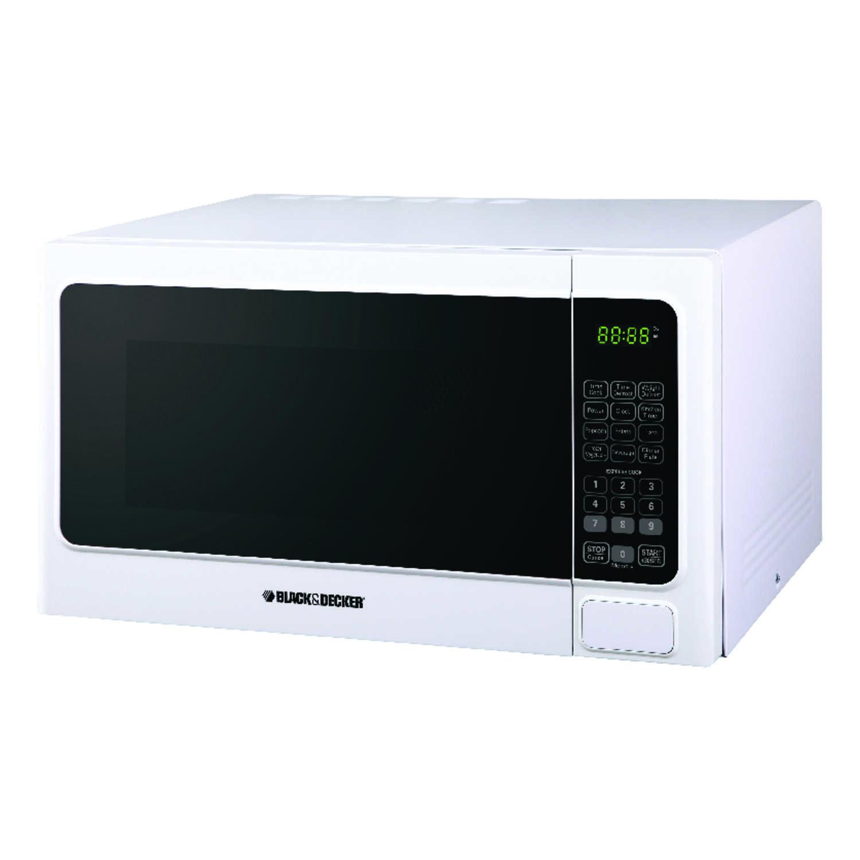 Black Decker 1 1 Cu Ft 1000 Watt Microwave Oven: Black And Decker 1.1 Cu. Ft. White Microwave 1000 Watts