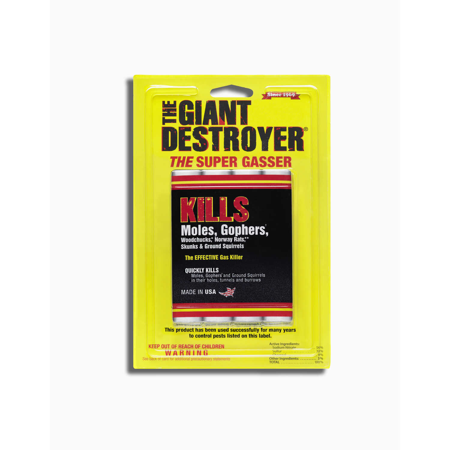 Atlas  The Giant Destroyer  For Gophers/Moles Animal Repellent  4 pk