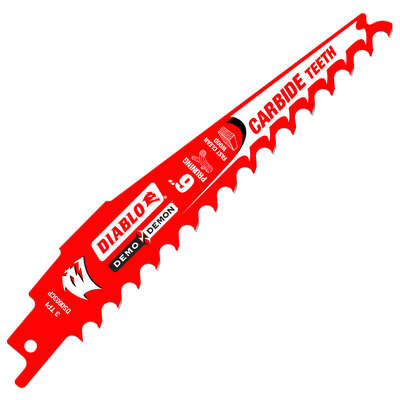 Diablo  Demo Demon  6 in. Carbide Tipped  Pruning  Reciprocating Saw Blade  3 TPI 1 pk