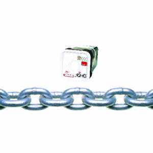 Campbell Chain  1/4 in. Oval Link  Carbon Steel  Proof Coil Chain  1/4 in. Dia. x 100 ft. L