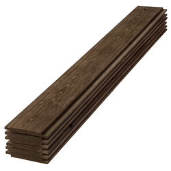 UFP-Edge 4 in. H x 6 in. W x 96 in. L Rustic Dark Brown Wood Shiplap