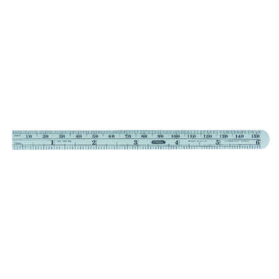 General Tools  6 in. L x 1/2 in. W Stainless Steel  Precision Pocket Rule