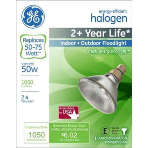 Ge 50 Watts Par38 Floodlight Halogen Bulb 1 050 Lumens White