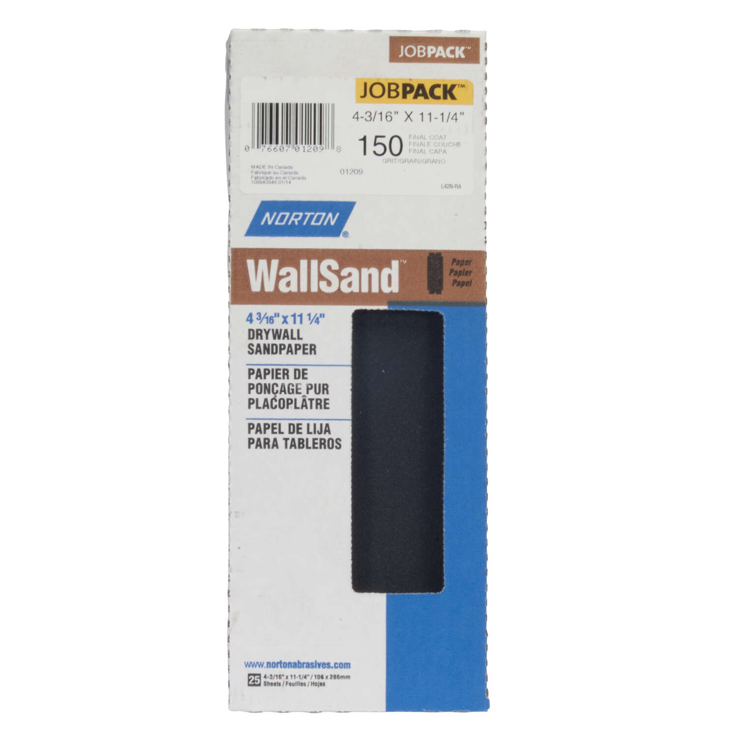 Norton  WallSand  11-1/4 in. L x 4-3/16 in. W 150 Grit Silicon Carbide  Drywall Sanding Sheet  25 pk