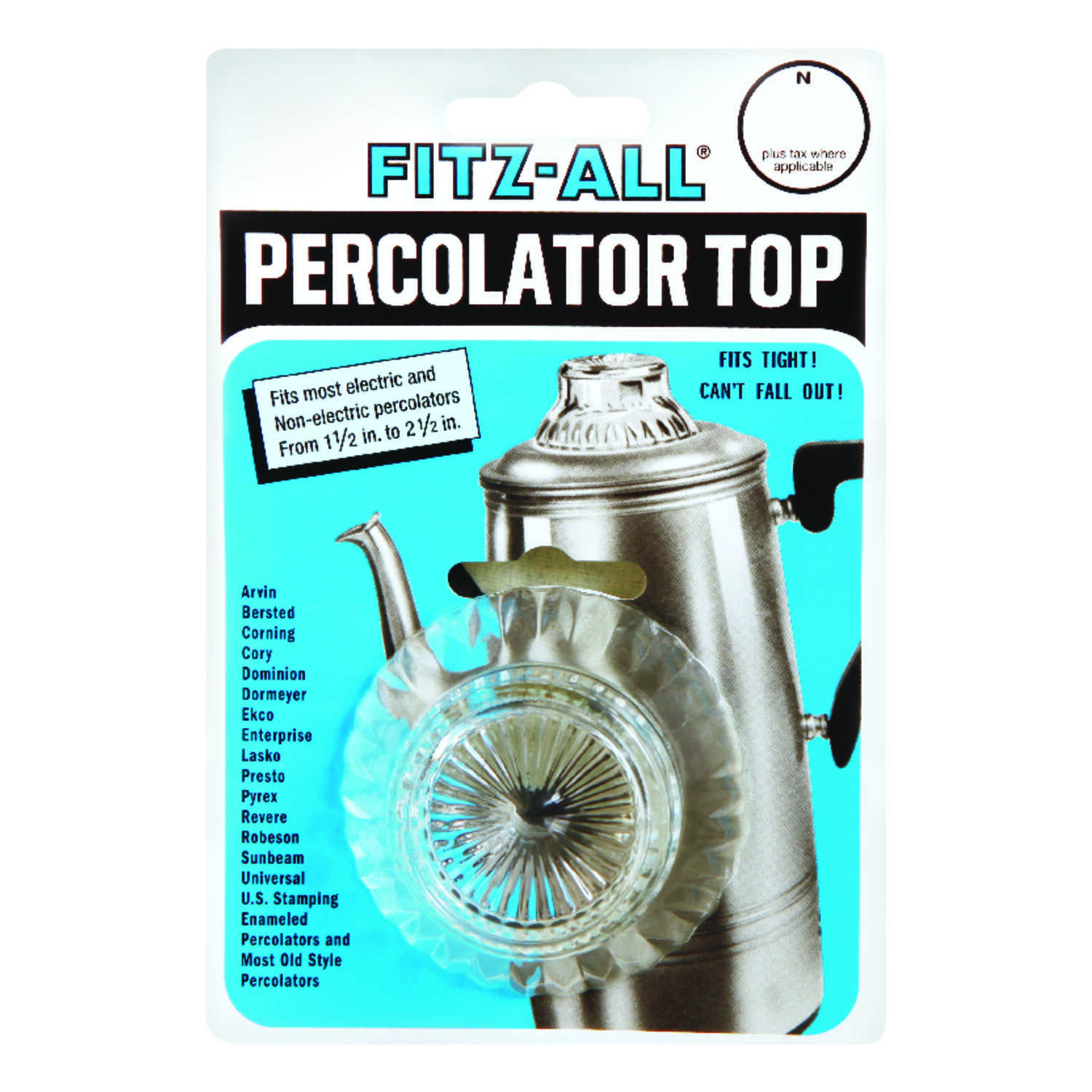 TOPS  Glass  Replacement Percolator Top  Clear
