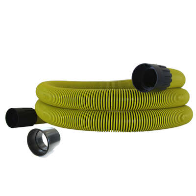 Dustless  25 ft. L x 1.5 in. Dia. Kink Proof  Wet/Dry Vac Hose  1 pk