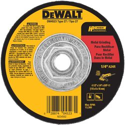 DeWalt High Performance 4-1/2 in. Dia. x 1/4 in. thick x 5/8 in. Metal Grinding Wheel 1 pc.