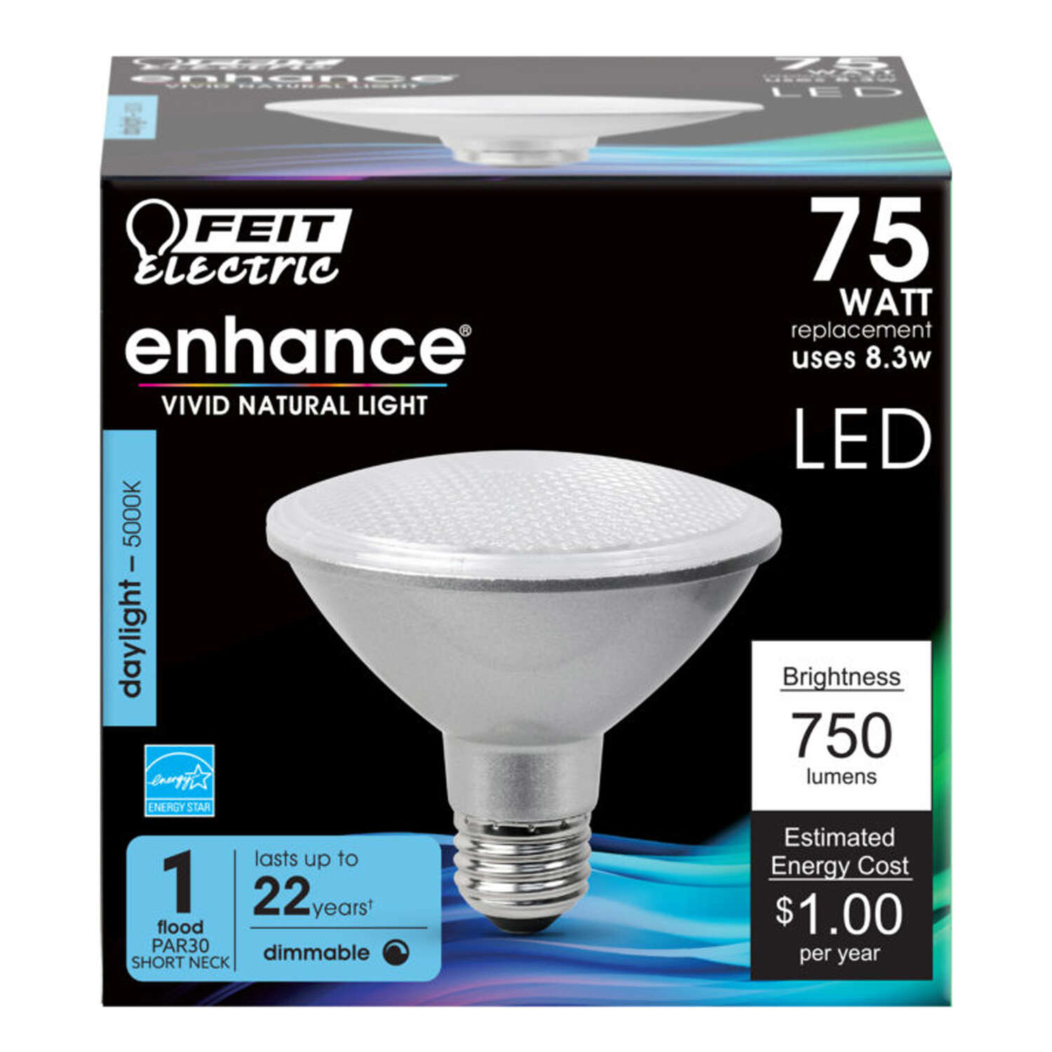 FEIT Electric  Enhance  PAR30  E26 (Medium)  LED Bulb  Daylight  75 Watt Equivalence 1 pk