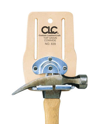 CLC Leather Hammer Holder 4.12 in. L x 7.5 in. H Beige