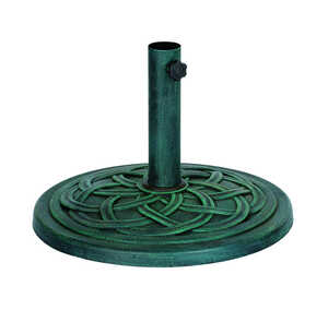 Bond Manufacturing  Green  17.7 in. W x 17.7  L x 13.18 in. H Resin Stone  Umbrella Base