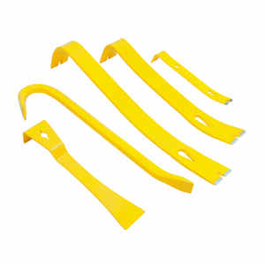 Stanley  15 14 12 9 and 7 in. L x 1-1/2 in. W Forged Steel  Pry Bar Set  Yellow  5 pc.