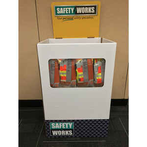Safety Works  Reflective Polyester  Safety Vest with Reflective Stripe  Yellow  Assorted