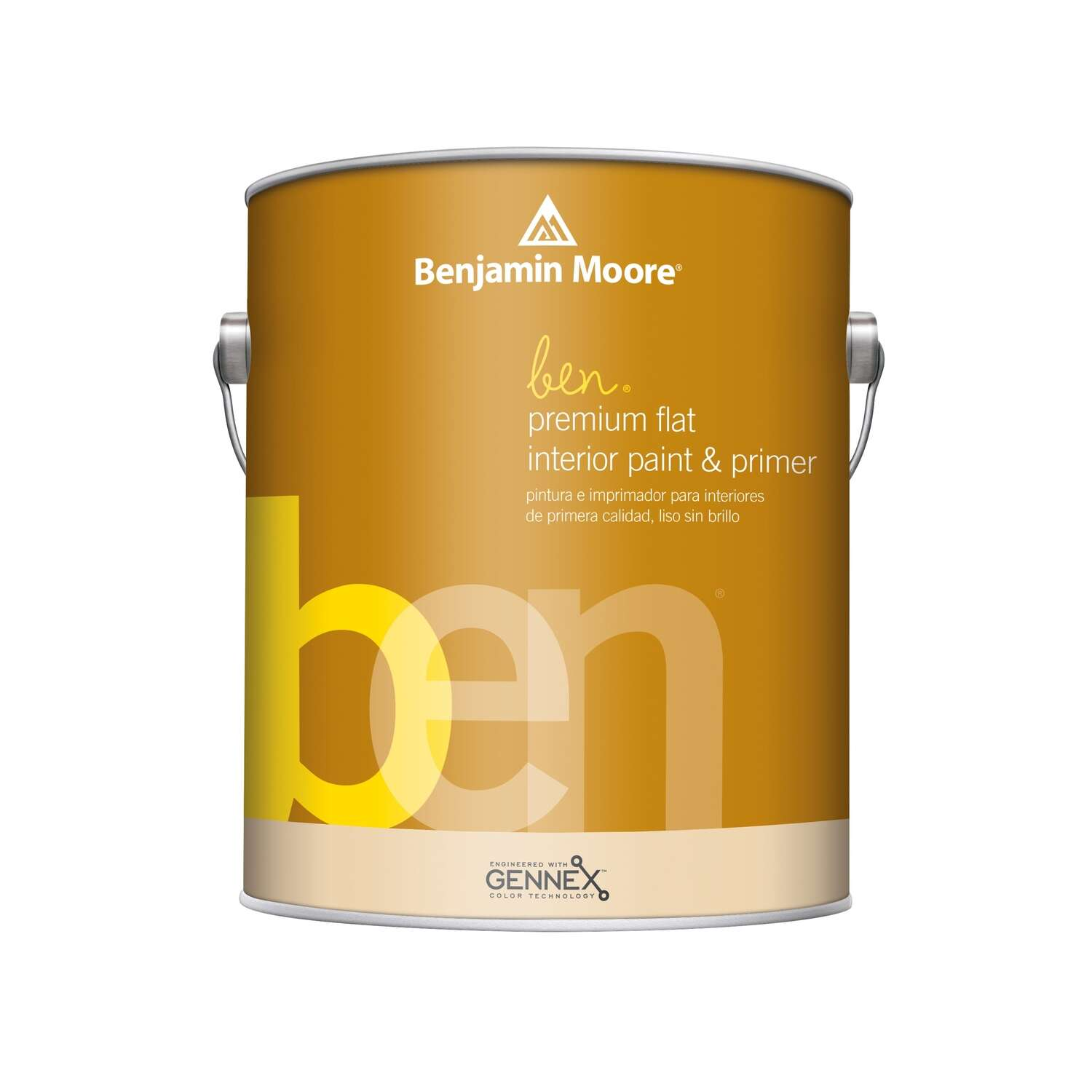 Benjamin Moore  Ben  Flat  Base 2  Acrylic Latex  Paint  Indoor  1 gal.