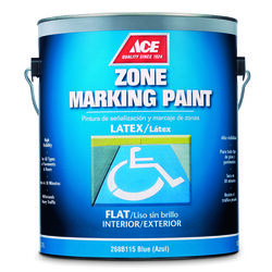 Ace  Blue  Zone Marking Paint  1 gal.