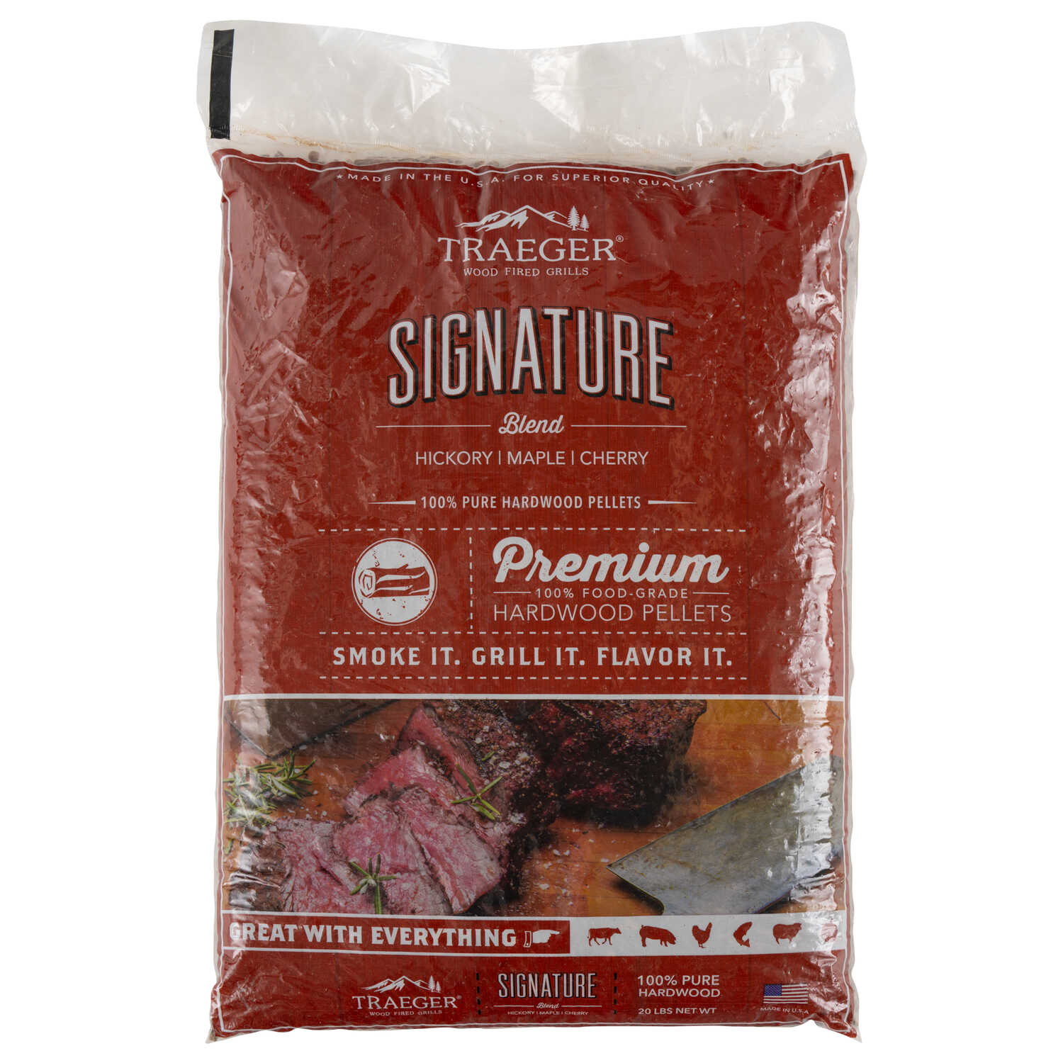 Traeger  Signature  Cherry/Hickory/Maple  Hardwood Pellets  20 lb.