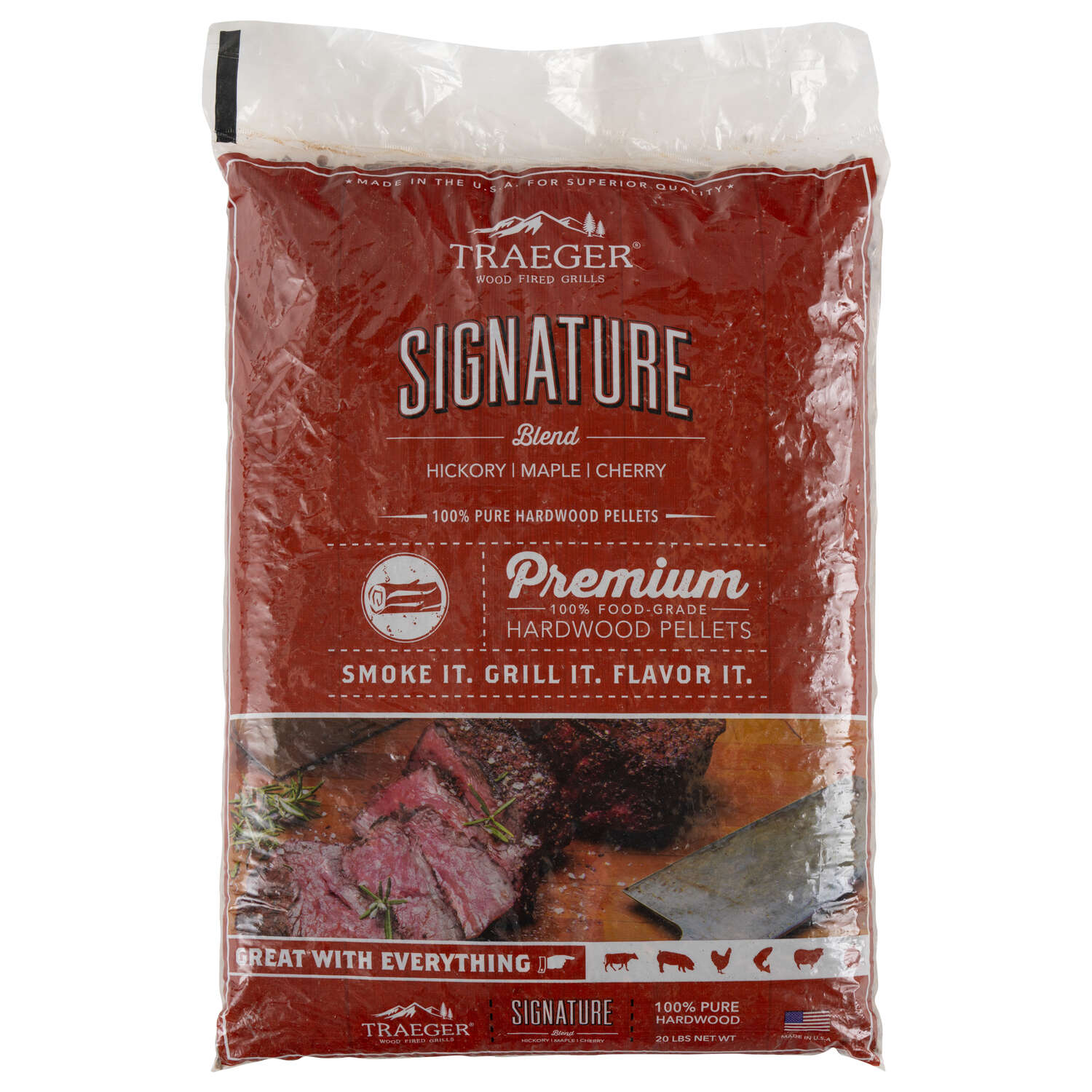 Traeger  Signature  All Natural Cherry/Hickory/Maple  Hardwood Pellets  20 lb.