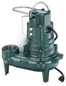 Zoeller  Cast Iron  Sewage Ejector Pump  1/2 hp 7,680 gph 115 volts