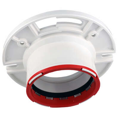 Charlotte Pipe  Connectite  4 in. Hub   x 3 in. Dia. Hub  PVC  Closet Flange