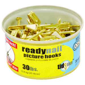 OOK  OOK  Brass-Plated  Steel  Standard  Picture Hook  25 pk 30 lb.