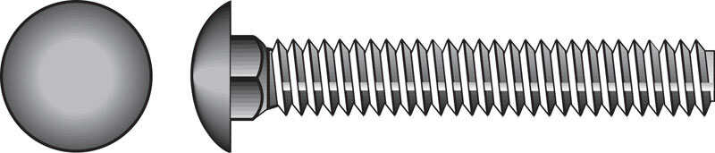 Hillman  3/8 in. Dia. x 4 in. L Zinc-Plated  Steel  Carriage Bolt  50 pk