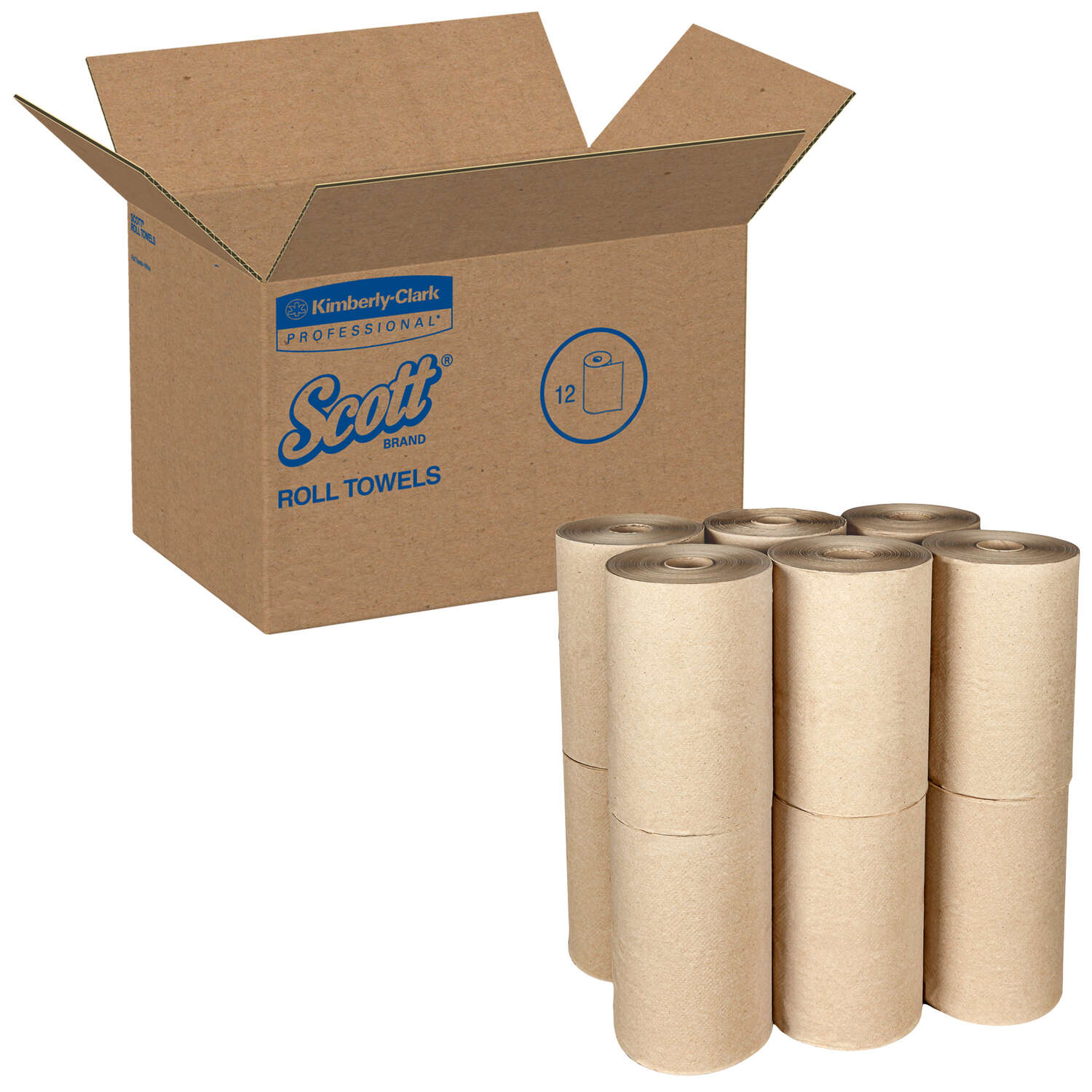 Scott  Hard Roll Towels  250 sheet 1 Ply 12 roll