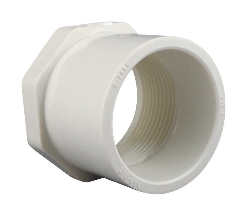 Charlotte Pipe  Schedule 40  1-1/4 in. Spigot   x 1/2 in. Dia. FPT  PVC  Reducing Bushing