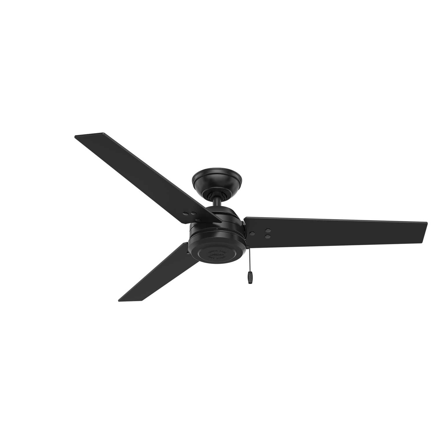 Hunter  52 in. 3 blade Indoor and Outdoor  Matte  Black  Ceiling Fan