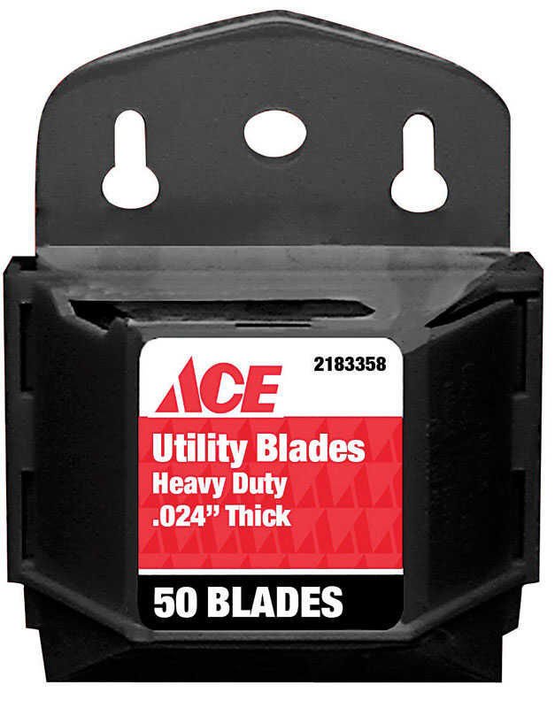 Ace  0.024 in.  Carbon Steel  Heavy Duty  Replacement Blade  50 pk