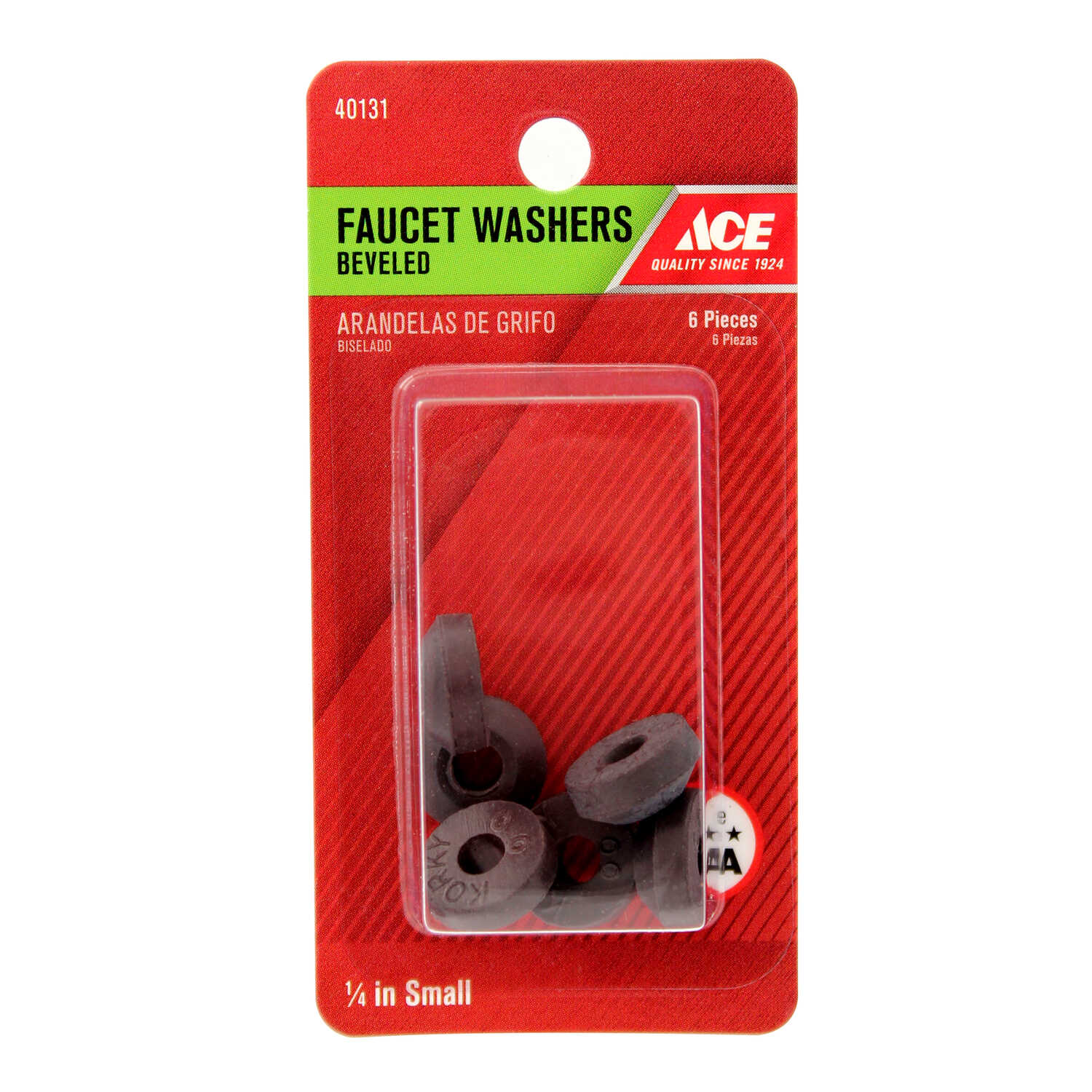 Ace  .1 in. Dia. Rubber  Beveled Faucet Washer  6