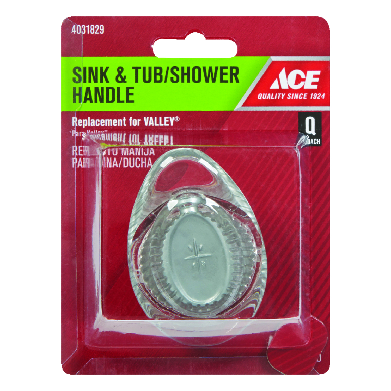 Ace Tear Drop Acrylic Clear Single Sink and Tub/ Shower Handle - Ace ...