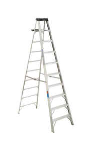 Werner  10 ft. H x 30 in. W Aluminum  Step Ladder  300 lb. capacity Type IA