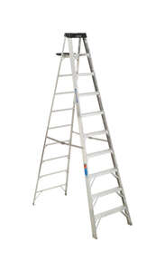 Werner  10 ft. H x 30 in. W Aluminum  Step Ladder  300 lb. Type IA
