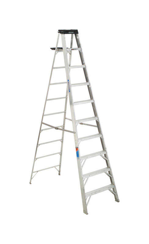 Werner 10 ft. H x 30 in. W Aluminum Step Ladder Type IA
