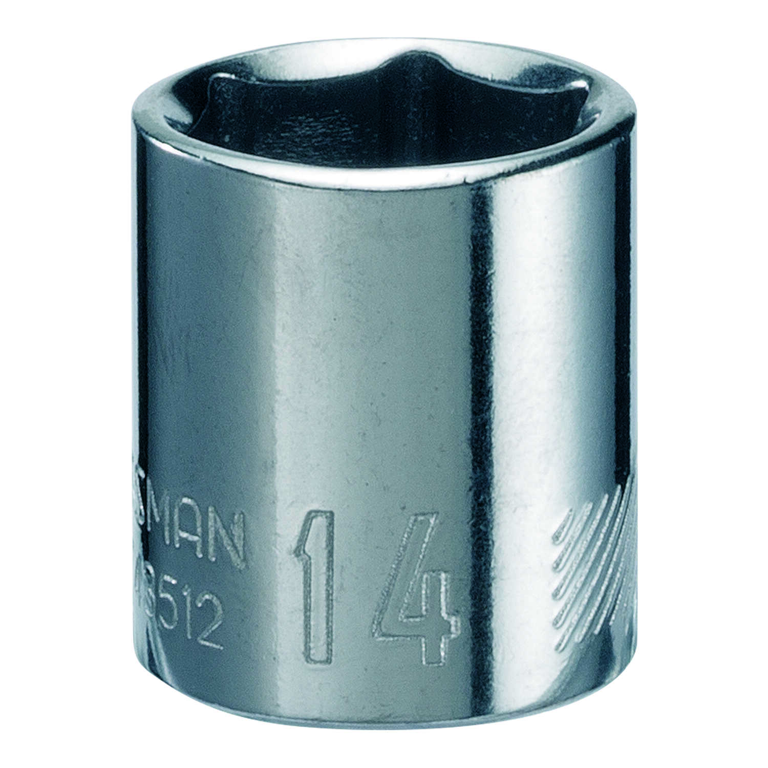 Craftsman  14 mm  x 1/4 in. drive  Metric  6 Point Standard  Socket  1 pc.