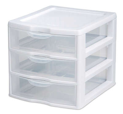 Sterilite  6.875 in. H x 7.25 in. W x 8.5 in. D Stackable Drawer Organizer