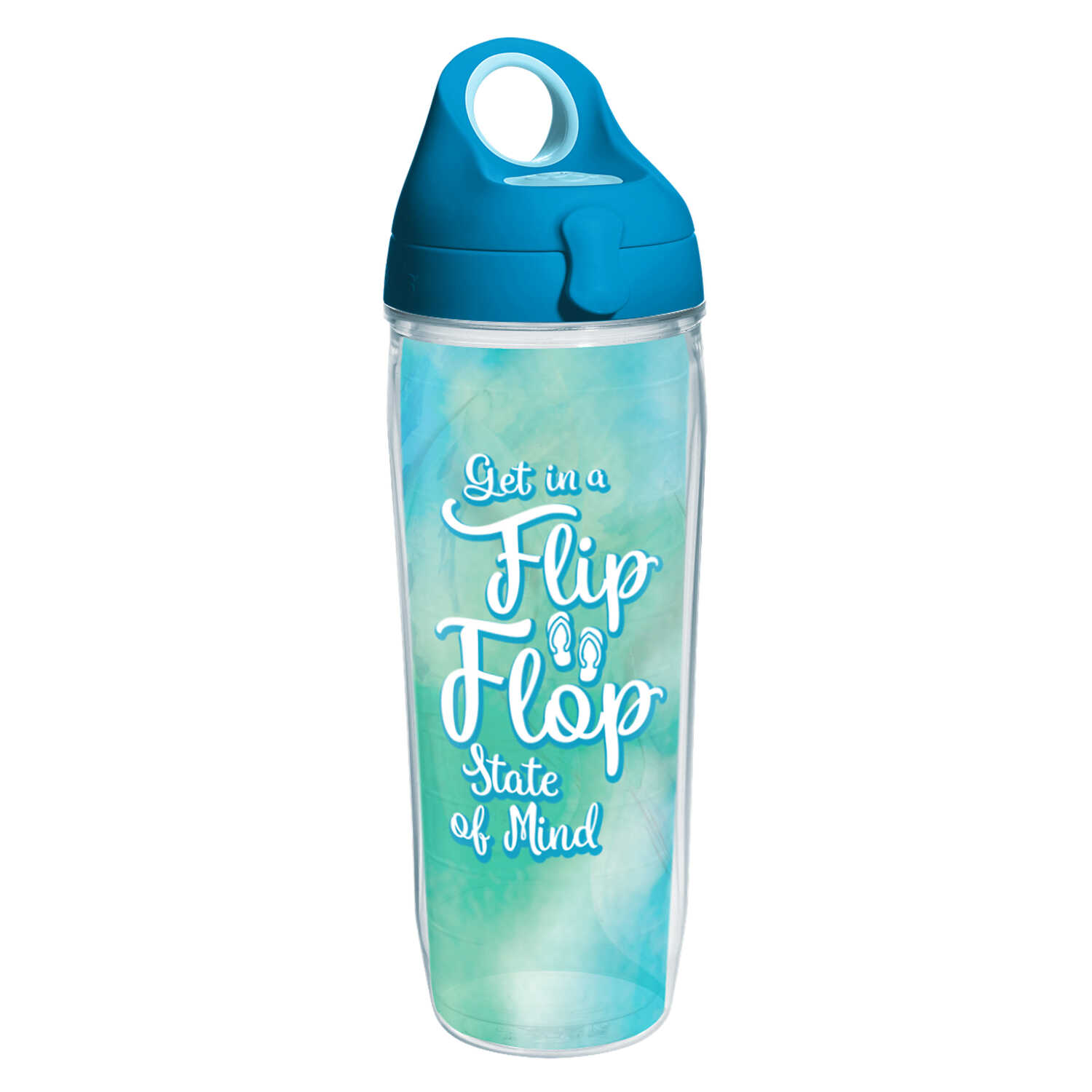 Tervis  Clear  Tritan  Flip Flop State Of Mind  Water Bottle  BPA Free 24 oz.