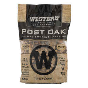 Western BBQ  Oak  Wood Smoking Chips  180 cu. in.