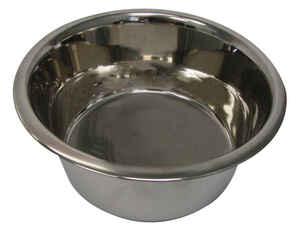 Hilo  Silver  Plain  Stainless Steel  8 cups Pet Dish  For Dog