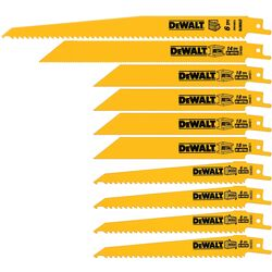 DeWalt Bi-Metal Reciprocating Saw Blade Set Multi TPI 10 pk