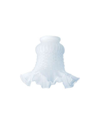 Westinghouse  Vase  White  Glass  Lamp Shade  1 pk