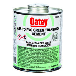 Oatey Green Transition Cement For ABS/PVC 32 oz.