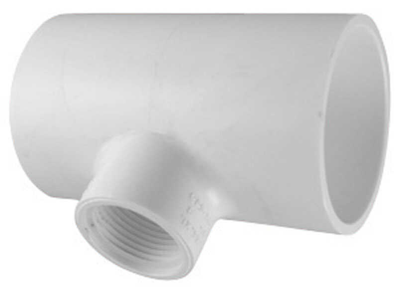 Charlotte Pipe  Schedule 40  1-1/2 in. Slip   x 1-1/2 in. Dia. Slip  PVC  Reducing Tee