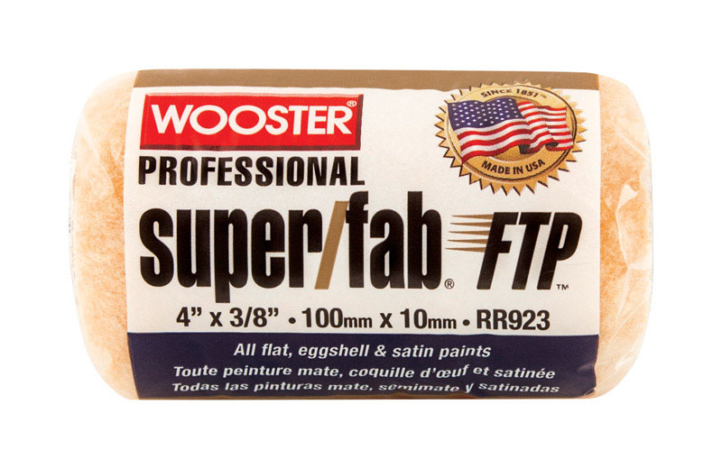 Wooster  Super/Fab FTP  Synthetic Blend  3/8 in.  x 4 in. W Trim  1 pk Paint Roller Cover  For Semi-