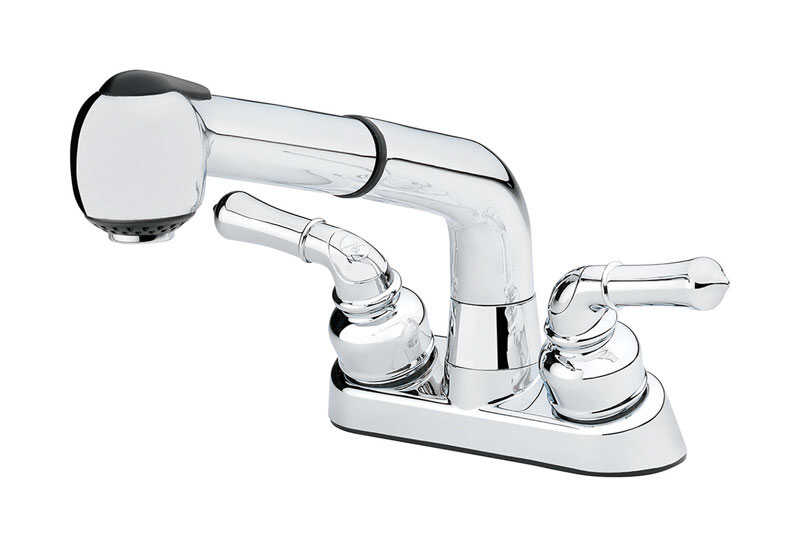 Homewerks  Washerless  Two Handle  Chrome  Pull Out Kitchen Faucet