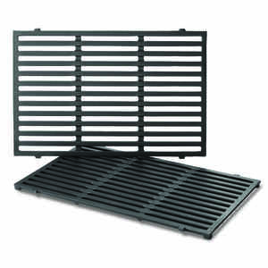 Weber  Cast Iron/Porcelain  Grill Cooking Grate  0.5 in. H x 11.9 in. W x 17.5 in. L