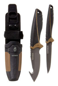 Gerber  Myth Field  Black  Stainless Steel  7-1/4 in. Knife Kit