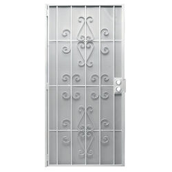 Precision  81-3/4 in. H x 36 in. W Orleans  White  Steel  Security Door